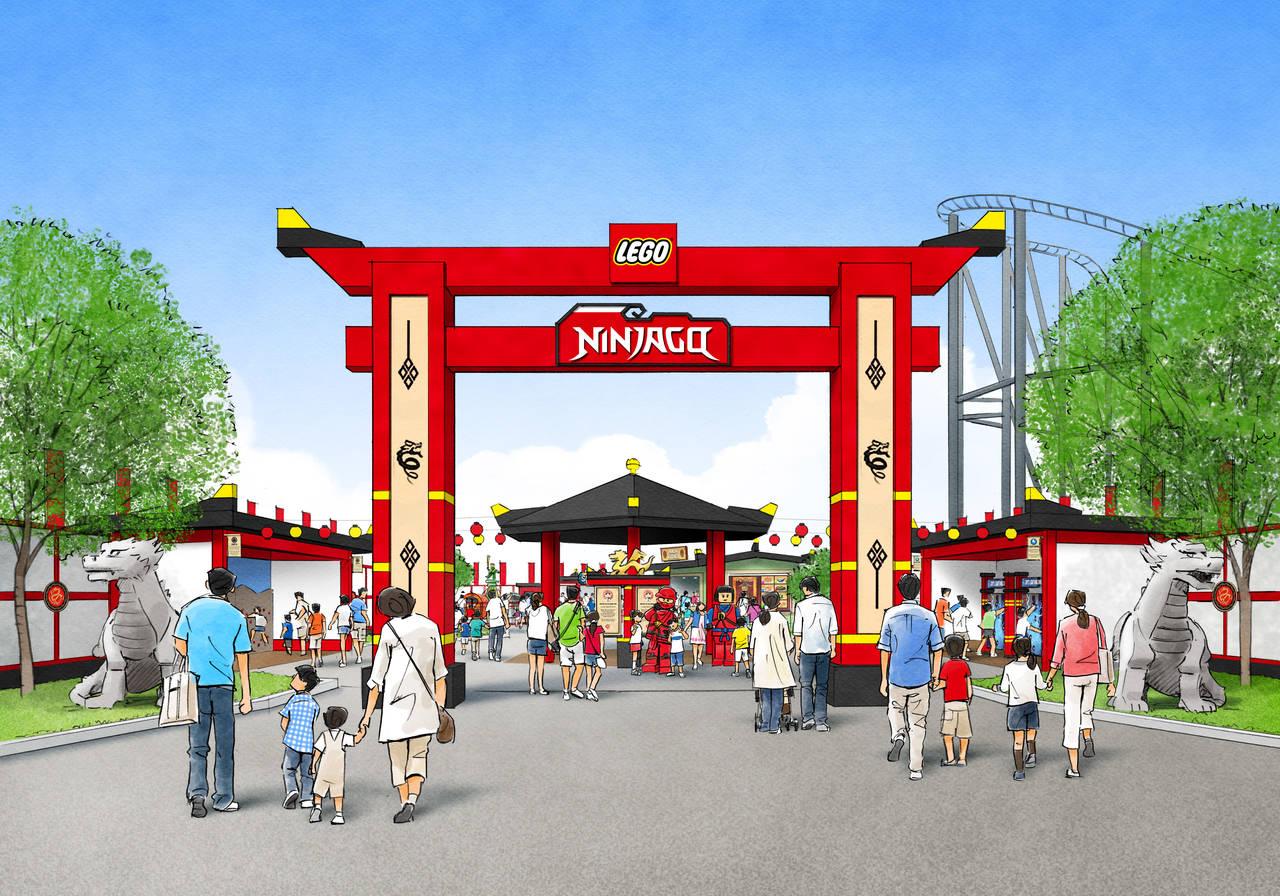 樂高樂園忍者旋風主題樂園入口示意圖。照片提供/LEGOLAND® Japan