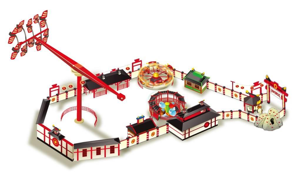 樂高樂園忍者旋風主題樂園全體示意圖。照片提供/LEGOLAND® Japan