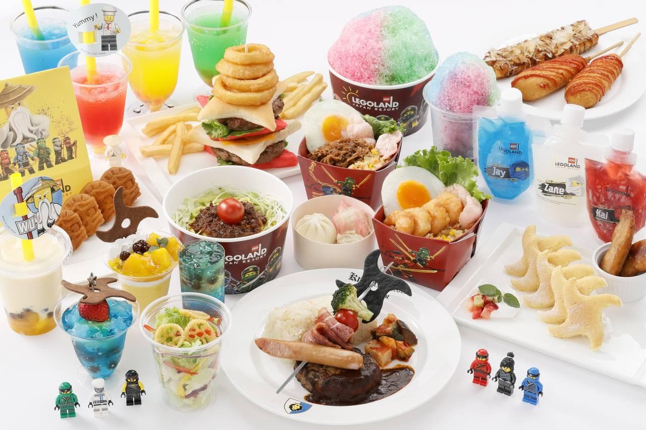忍者風格的限定餐點。照片提供/LEGOLAND® Japan