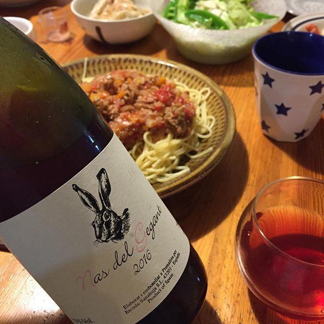 """Takuro Koga on Instagram: """"昨夜の晩御飯より。 山盛りのミートソーススパゲッティをモリモリ食べ、 ゴクゴク飲むのに必要だったロゼワイン! エスコーダのナスデルゲガン2016! ううううううまああああああああああ! アセロラ、ピーチ、サクランボ!? 葡萄はカベルネフラン、メルロー、…"""" (9086)"""