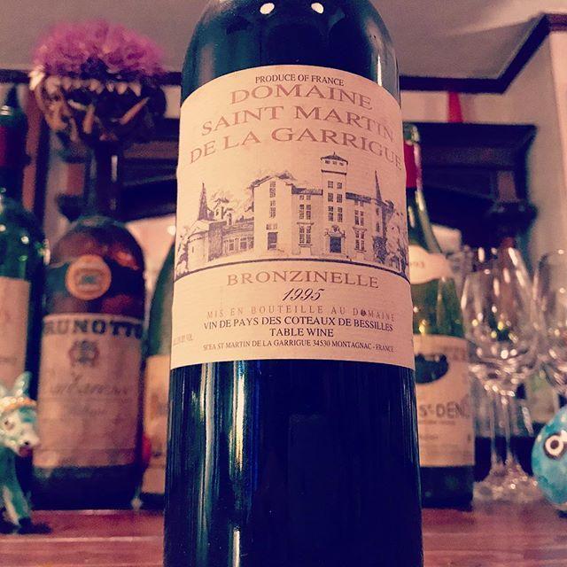 "nadja1963 on Instagram: ""今夜のワイン。以前の#SaintMartindelaGarrigue #bronzinelle 1995#amagasaki #阪急塚口 #ナジャ#ナジャ熟成ワイン"" (9201)"