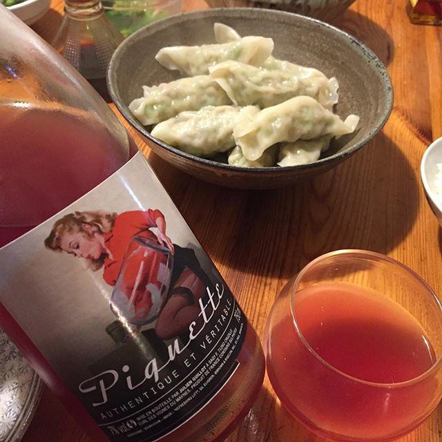 """Takuro Koga on Instagram: """"昨夜の晩御飯より。 水餃子と聞いては休肝日は返上せざるを得ない(笑) 合わせたのは先日来日していたマコンの生産者、 ジュリアンギィヨのピケット。 なんでも、収穫の手伝いに来る季節労働者達が、 食事などの際に飲むまかない用の飲み物として、…"""" (9204)"""