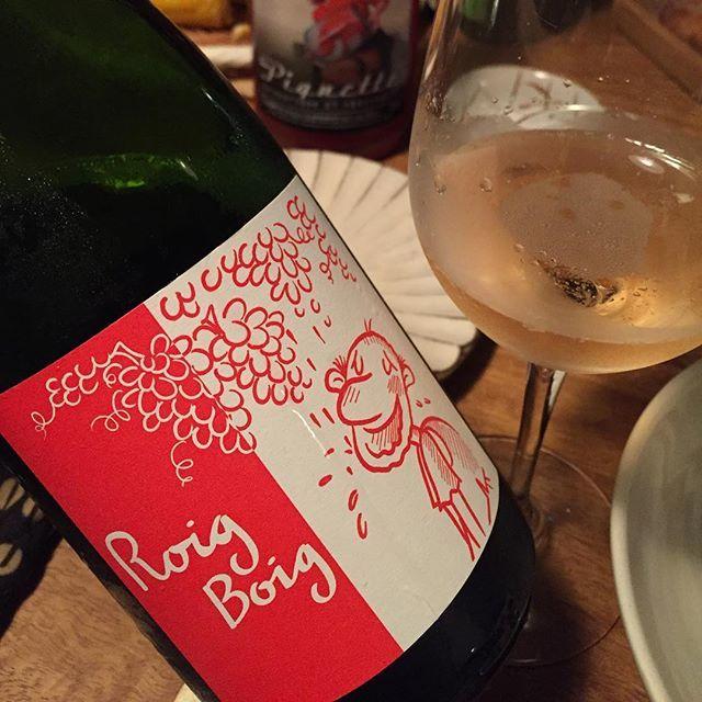 """Takuro Koga on Instagram: """"昨夜の晩御飯より。 大阪より友来たる、 で食堂トキワ202号室へお呼ばれ。 乾杯で飲んだワインは、 スペイン、カタルーニャのラ・サラーダより、 ロイジボイジ2016。(狂った赤、と言う意味) シャレッロ、カンノナウ、スモイ、モニカなど、…"""" (10878)"""