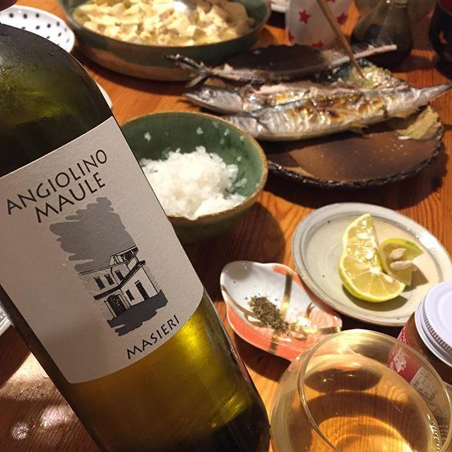 Takuro KogaさんはInstagramを利用しています:「昨夜の晩御飯より。 秋刀魚の塩焼きと麻婆豆腐! 飲んだのはビアンカーラのマシエリ2017。 ガルガーネガ90%とその他10%。 言わずと知れたイタリア自然派ワインの基本の「き」。 2016も美味しかったですが2017も開けたてから最高! 甘くないはちみつレモン、洋梨、カリン!…」 (12542)