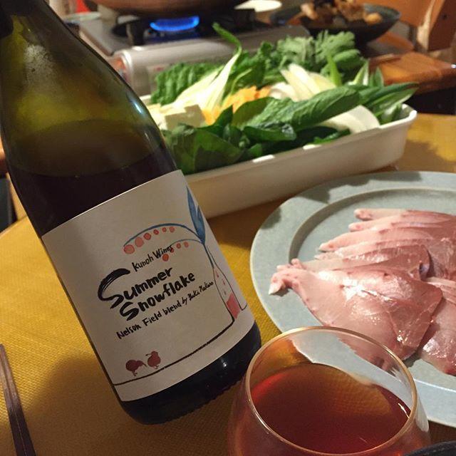 """Takuro Koga on Instagram: """"昨日の晩御飯より。 いただきものの立派な天草の鰤をしゃぶしゃぶに。。 合わせたのは九能ワインズのサマースノーフレーク'17。 熊本にも遊びに来てくれた注目の若手醸造家、 中野雄揮さんがニュージーランドで造ったワインです! ソーヴィニョンブラン、リースリング、ピノグリ、…"""" (13571)"""