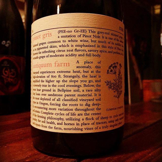 "nadja1963 on Instagram: ""オレゴン、ミニマス ワインズ。辞書シリーズ。 ウィラメットヴァレーのピノグリ2016年。マセラシオンしてロゼ色に。実験精神旺盛でアメリカン ナチュラル最前衛なチャドストック。 #今宵は19時半オープンです☆ #minimuswines  #chadstock…"" (14605)"