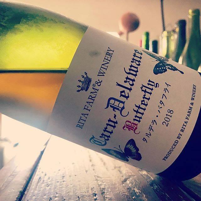 "nadja1963 on Instagram: ""余市のリタ ファーム。タルデラ バタフライ2018。醸しデラの個性が独特のフルーツ感でクセになる味。 今宵はナジャ1915開店です☆ #ritafarmandwinery  #orangewine #日本ワイン  #winebarnadja  #塚口ワイン #塚口 #阪急塚口…"" (16883)"