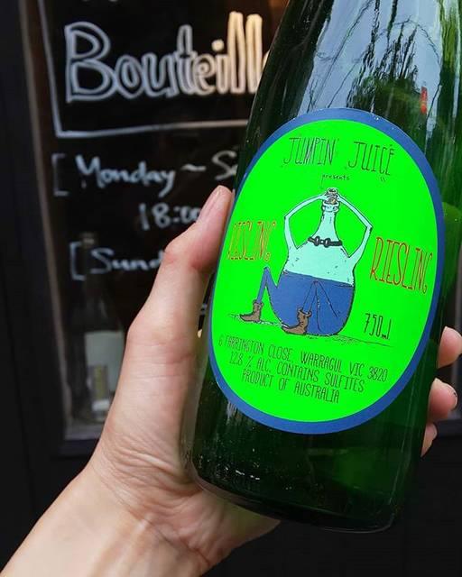 """WINE STAND Bouteille on Instagram: """"7/20 土曜日  OPENです!  今日もぱっとしないお天気ですね。。 . . .  Jumpin' Juice/ Patrick Sullivan Australia Riesling  そんな中、一際目立つボトルだったので思わずアップしてみました。笑…"""" (17122)"""