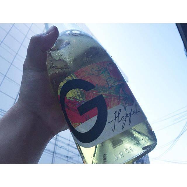 "Chihiro Taguchi on Instagram: ""こんな暑い日にぴったりのリンゴワイン🍷初めの1杯にどうぞ〜 #ゲオルギウム #リンゴワイン #ekaki"" (17249)"