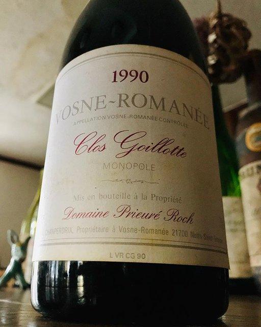 """nadja1963 on Instagram: """"【ナジャ 年末年始特別ワインのご案内】 プリューレ ロック、ヴォーヌロマネ クロゴワイヨット1990。昨年56歳の若さで天に召されたアンリフレデリックロック。彼が啓示を受けた元DRCモノポールのドメーヌ最初期ヴィンテージ。現在のエジプト由来エチケット以前のもの。…"""" (19176)"""
