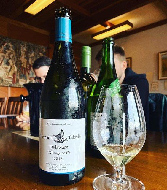 "winy.tokyo on Instagram: ""Domaine Takeda Delaware L'elevage en fut 2018 - Takeda Winery (Noriko Kishidaira) - #Yamagata, #Japan (#Delaware) ドメイヌ・タケダ・デラウエア・樽熟成 2018 /…"" (19484)"