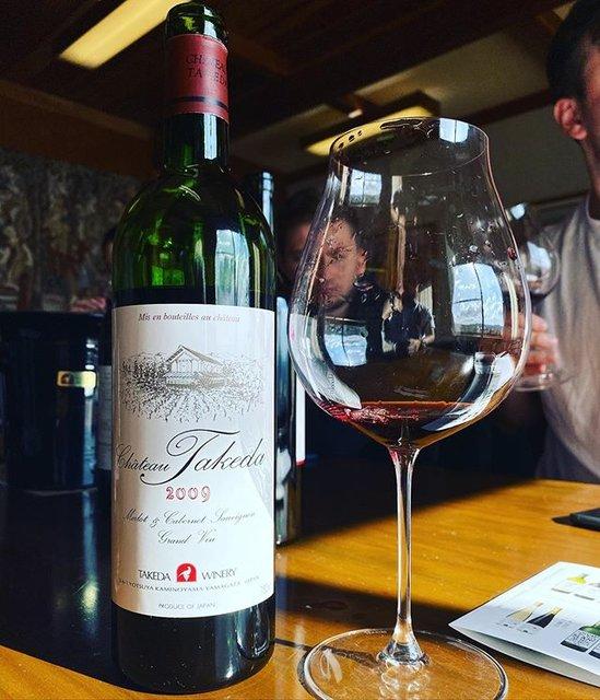 """winy.tokyo on Instagram: """"Château Takeda Rouge 2009 - Takeda Winery (Noriko Kishidaira) - #Yamagata, #Japan (#CabernetSauvignon, #Merlot) シャトー・タケダ・ルージュ 2009 /…"""" (19496)"""