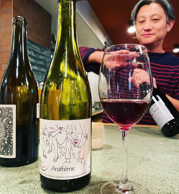 """winy.tokyo on Instagram: """"Anatheme Rouge 2014 / Domaine Mont De Marie (Thierry Forestier) - #Languedoc, #France (#Aramon, #Cinsaut, #Carignan, #Grenache) アナテーム・ルージュ…"""" (19605)"""