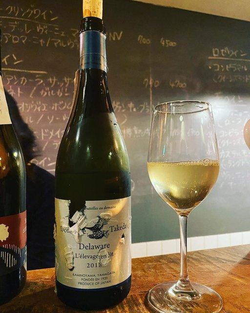 "winy.tokyo on Instagram: ""Domaine Takeda Delaware L'elevage en fut 2018 - Takeda Winery (Noriko Kishidaira) - #Yamagata, #Japan (#Delaware) ドメイヌ・タケダ・デラウエア・樽熟成 2018 /…"" (21506)"