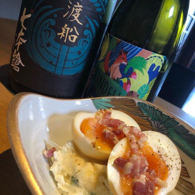 """酒屋 彌三郎 on Instagram: """"彌三郎のオープン当初から、変わらない人気を誇る定番のポテトサラダ。  加賀の平飼い卵の燻製と、パンチェッタとマスタードのソースをかける、お酒にも合う一品。  七本槍の旨味のあるお酒や、キンデリのスッキリしながらオイル感のある味わいとよく合います。…"""" (22051)"""
