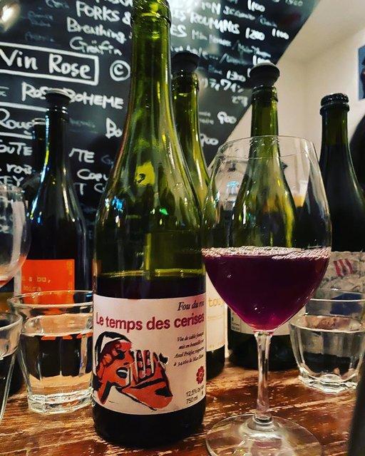 "winy.tokyo on Instagram: ""Fou du Roi 2017 / Le Temps des Cerises (Axel Prufer) - #Languedoc, #France (#Grenache, #Carignan, #Cinsaut) フー・デュ・ロワ 2017 /…"" (22767)"