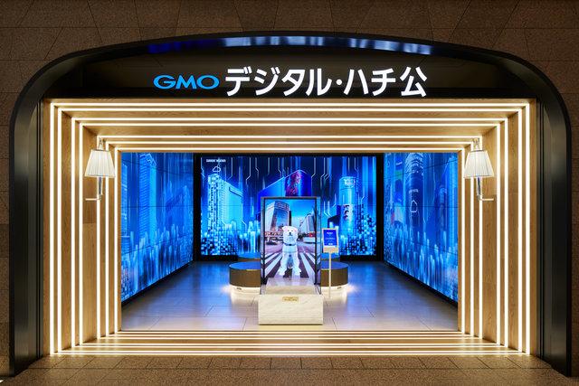 渋谷フクラス・「デジタル化されたハチ公」で時報ショーを実施 実際の渋谷の天気や時間帯で演出が変わる