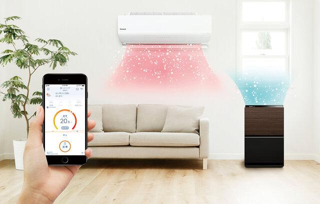 パナソニック、ルームエアコンと加湿空気清浄機がIoT連携へ