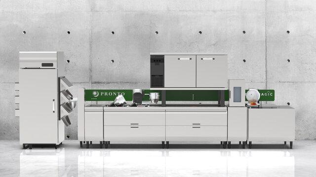 プロントコーポレーション、「パスタ自動調理ロボット」を共同開発