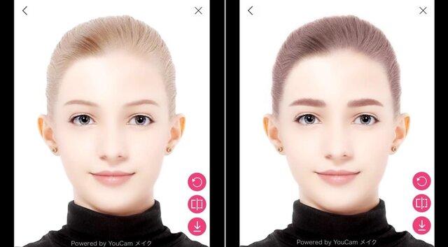 コーセー、ヘアサロンカウンセリングに「眉」×「髪」シミュレーターを導入開始 WEB診断システム「印象プロデュース」も展開