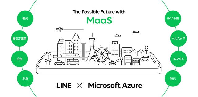 LINE、「Microsoft Azure」のパートナーと全国のMaaS普及拡大を支援するための共同プロジェクトを開始