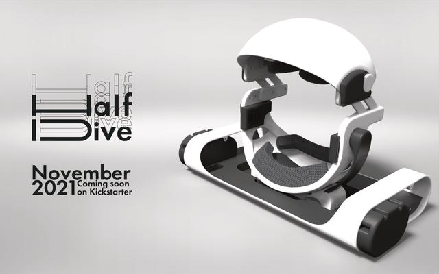 寝ながらの使用に最適化したVRデバイス「HalfDive(ハーフダイブ)」が発表