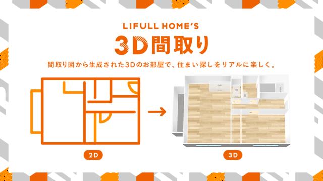 不動産・住宅情報サイト「LIFULL HOME'S」、AIを活用し平面の間取り図から3Dの部屋を生成する「LIFULL HOME'S 3D間取り」を正式に提供開始
