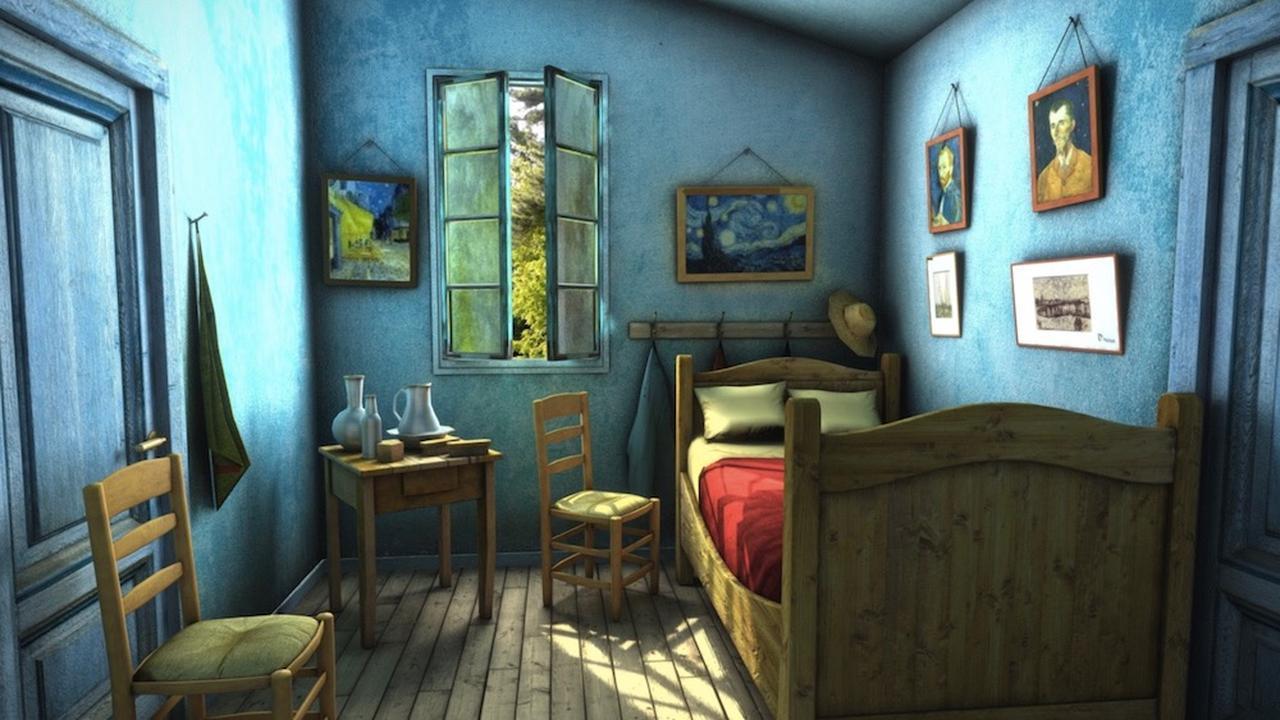 ▲ゴッホ絵画「アルルの寝室」を再現したVR空間(CG製作者: ruslans3d)