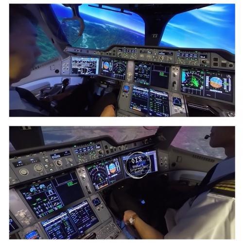 パイロットの真横に立って見学している感覚が楽しめる