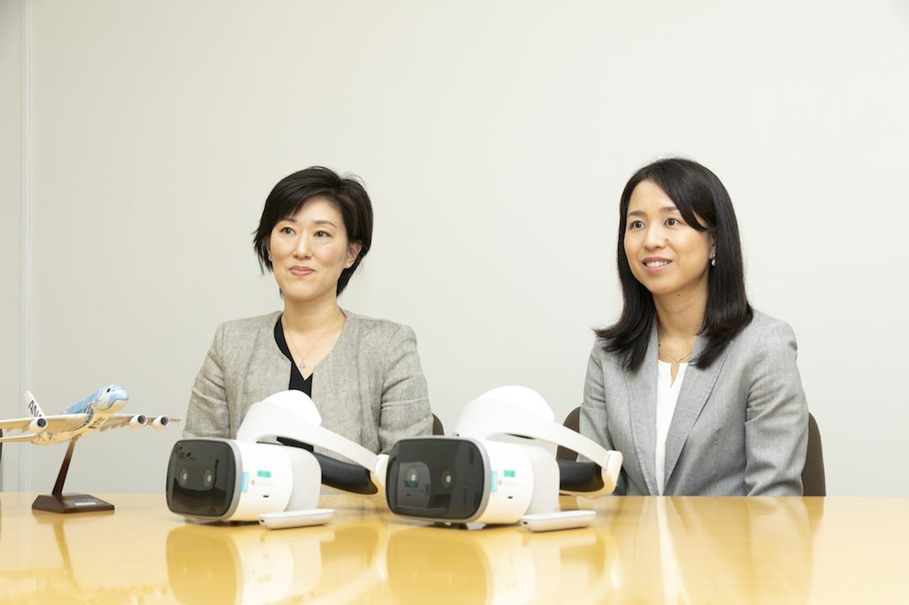全日本空輸株式会社 客室センター(左から)伊藤氏、井出氏