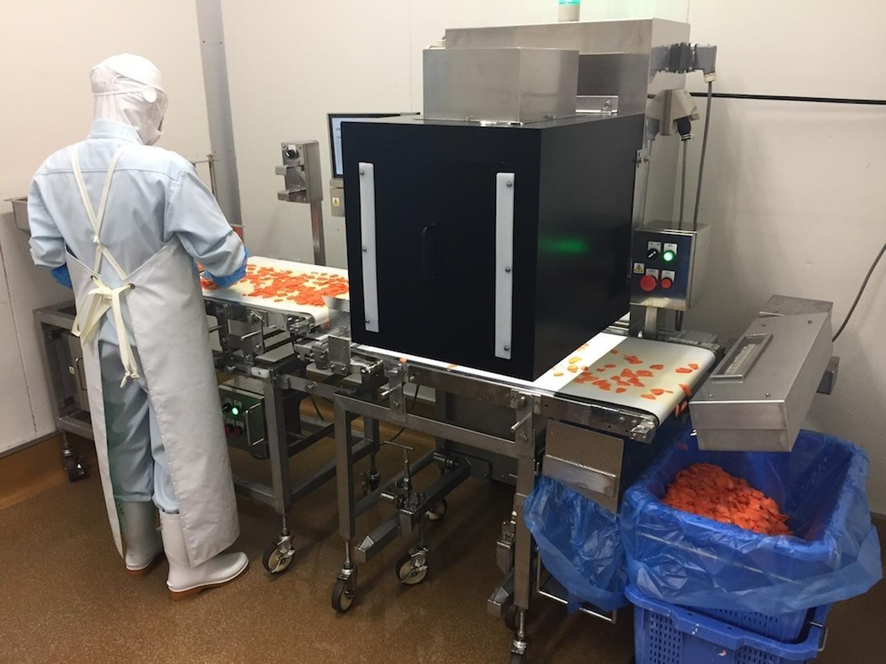 AIを活用した原料検査装置