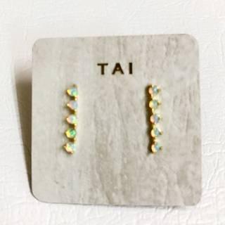 Tai(タイ)オパールピアス (5940)
