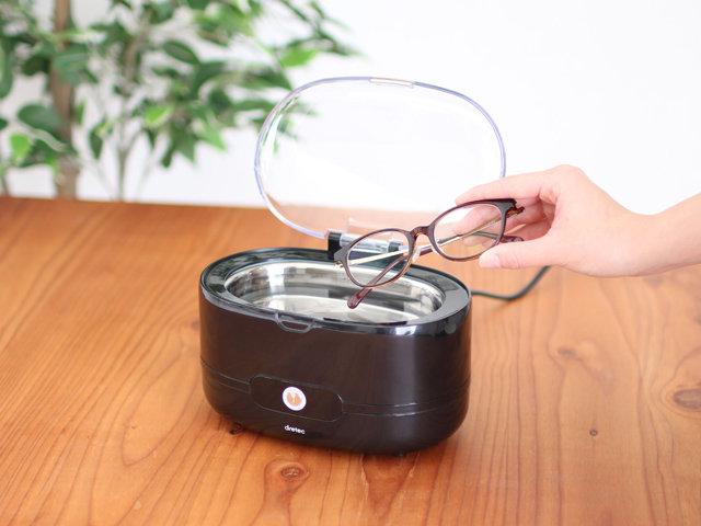超音波の力で微細な汚れもスッキリ洗える。メガネや時計、アクセサリーのクリーニングに大活躍。 布やブラシでは落ちない汚れも超音波ですっきり落とします。