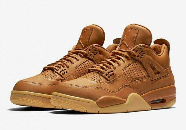 Nike Air Jordan 4 Retro Premium(ナイキ・エア・ジョーダン・4・レトロ・プレミアム)のニューカラー「Ginger/Gum Yellow (ジンジャー/ガム・イエロー)」。アッパーがジンジャーカラーのレザー素材に統一されており、各種プラスティックパーツ、シューレースの素材もレザー素材に変更されています。国内レザークラフトブランドのHender Scheme(エンダースキーマ)のオマージュモデルを彷彿とさせる注目のオールレザースニーカーとなります。 ジャスティン・ビーバーも着用した話題のスニーカーです。