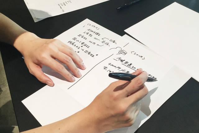 シナリオとユースケースを書き出していきます!