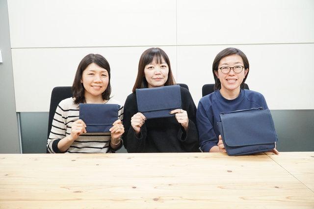 左:永澤さん、中:国広さん、右:松木さん。優しい笑顔を...