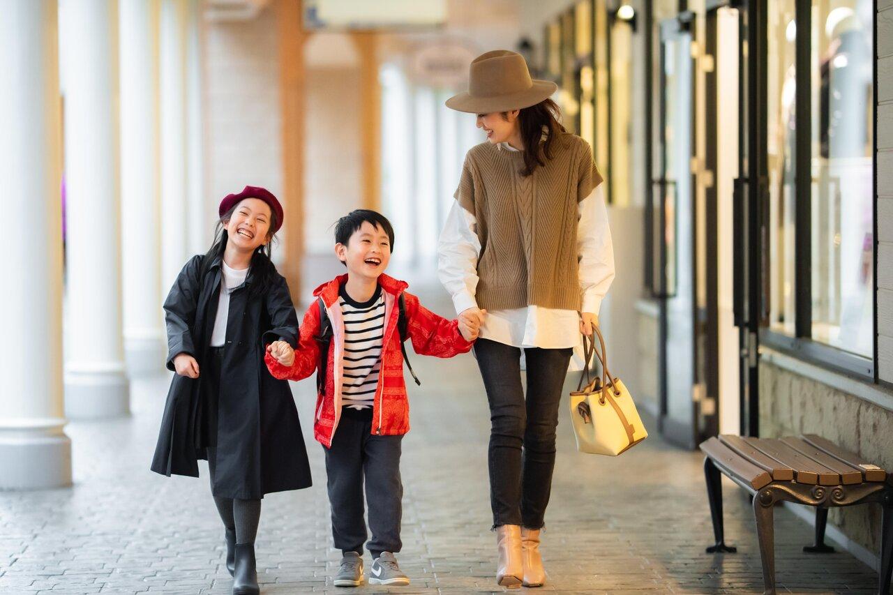 親子でコート探し♡冬物アイテムをお得に買い足すならプレミアム・アウトレット
