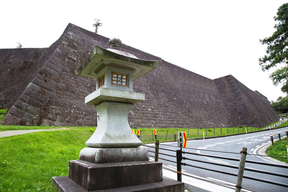 仙台城跡にある石垣
