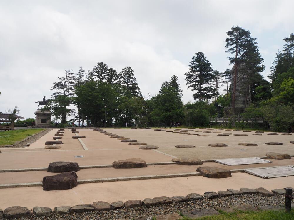 仙台城本丸大広間の遺構表示