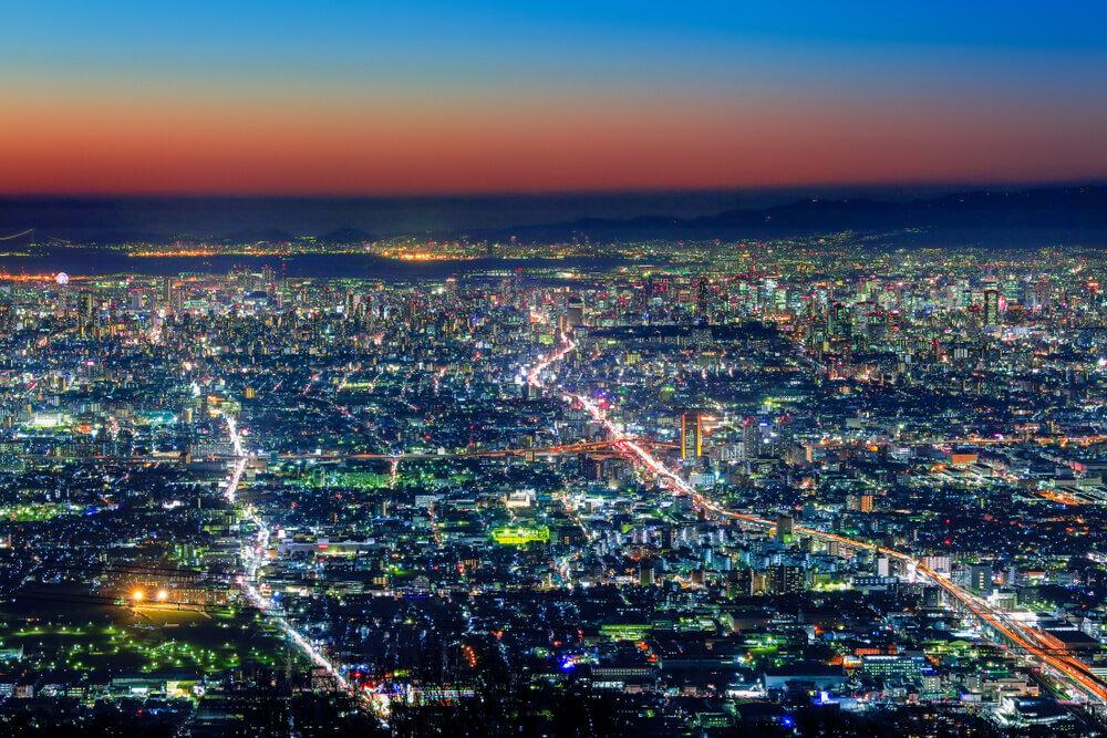 生駒山から眺める夜景