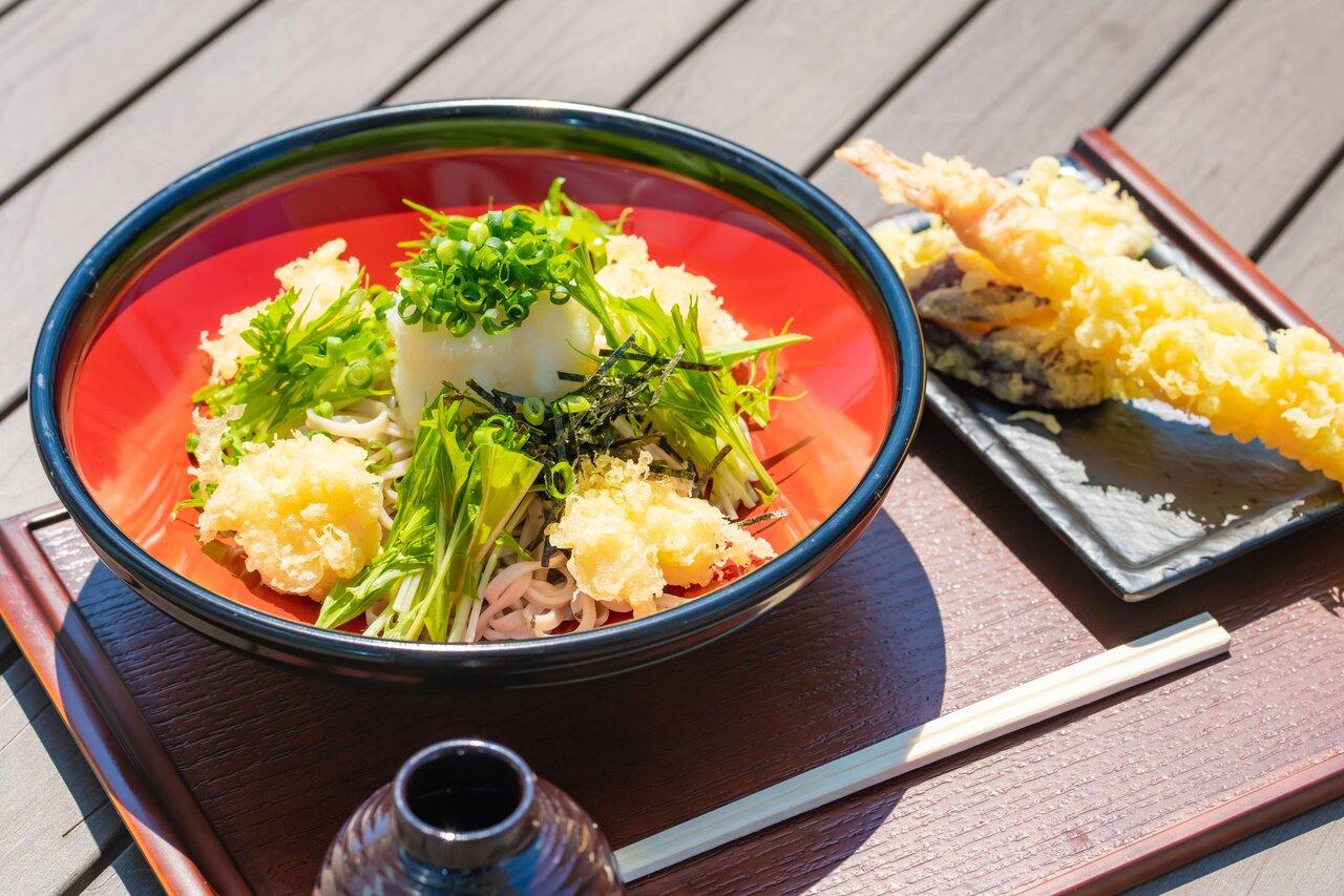 そばと天ぷらセット
