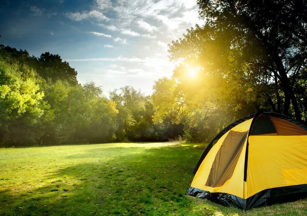 牧場にあるキャンプ場