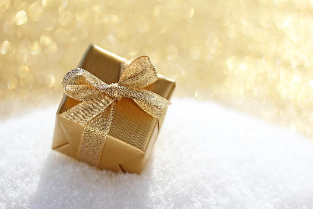 金色のクリスマスプレゼント