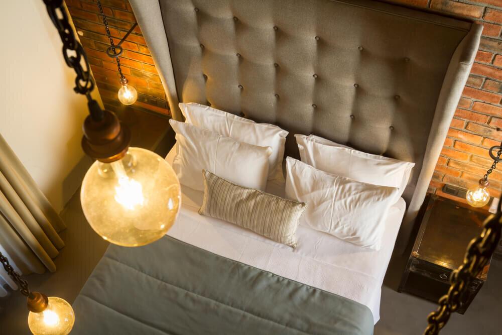 ヴィンテージスタイルの寝室