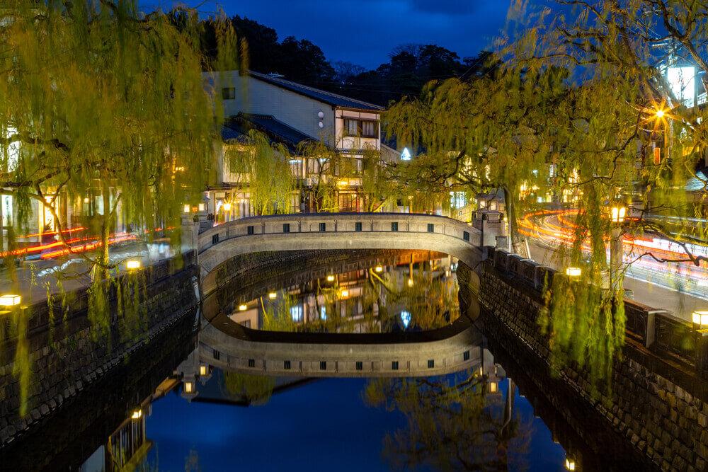 城崎温泉街の夜景