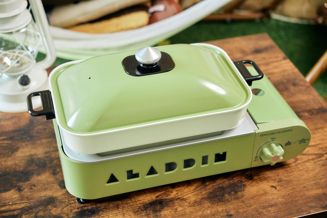 LOGOS×SENGOKU ALADDIN ポータブル ガス ホットプレート プチパン(限定まな板付)