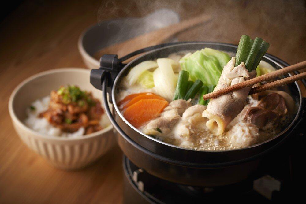 みつせ鶏の焼きガラスープ水炊き定食
