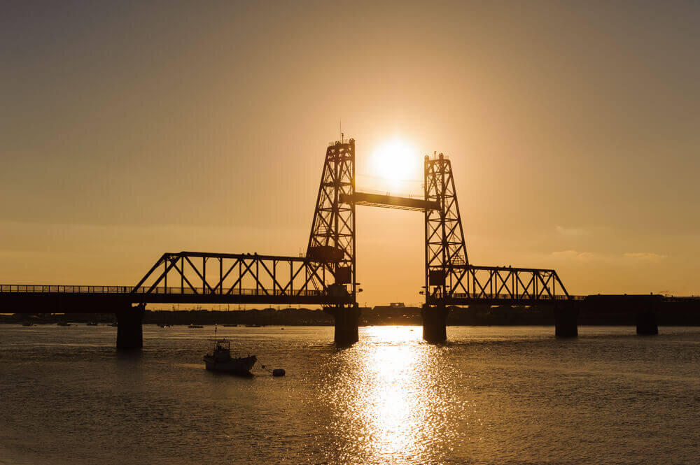 筑後川昇開橋の景色