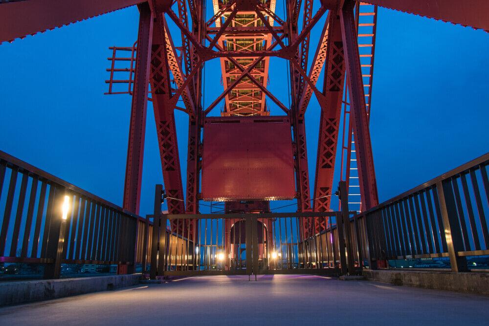 夜の筑後川昇開橋
