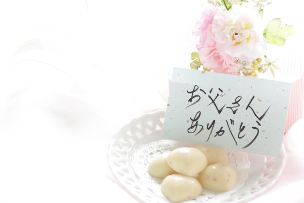 メッセージカードとホワイトチョコレート